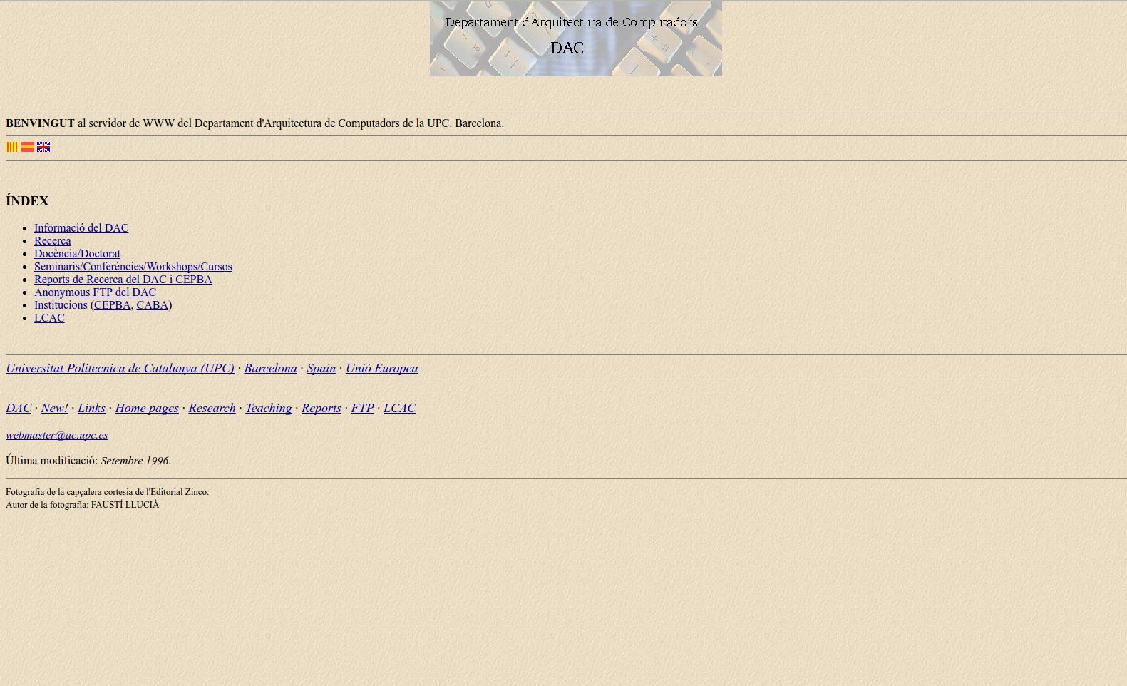 1996 web page